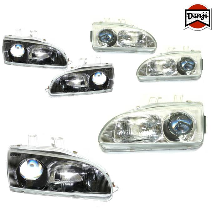 Denji Gen 1 Headlights Black Or Chrome Civic 91 96
