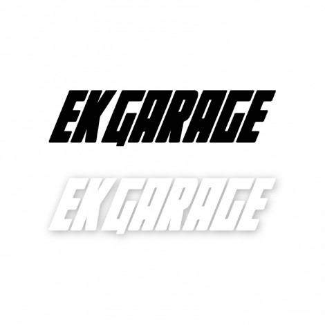 EK GARAGE OFFICIAL STICKER DECAL 50CM