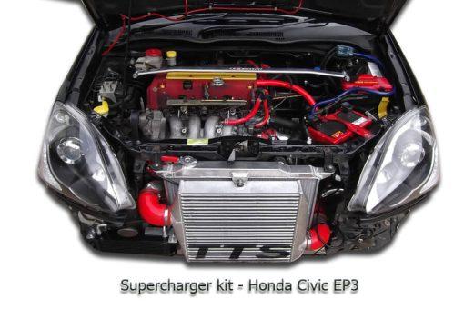 TTS SUPERCHARGER KIT HONDA CIVIC EP3 K20A2 ROTREX COMPRESSOR