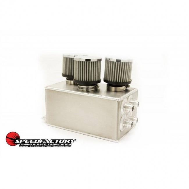 SpeedFactory 3 Filter Aluminum Catch Can Honda Acura RSX GSR SI LS Integra Civic