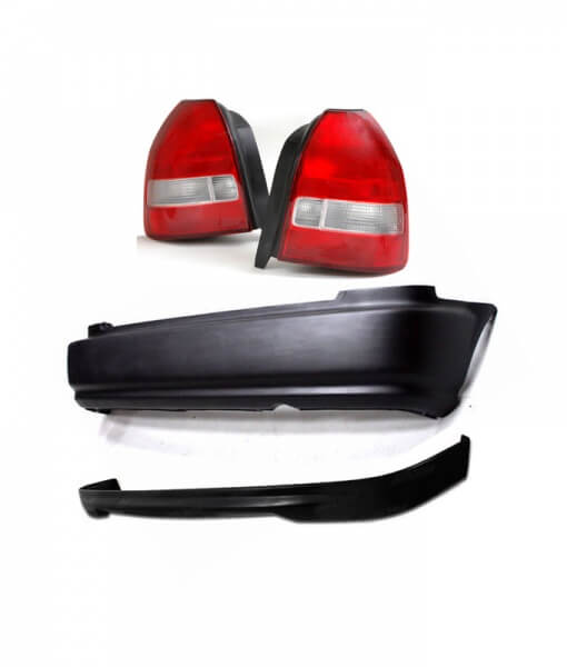 civic 99 00 facelift rear bumper spoiler lip taillights jdm ek4 ek9