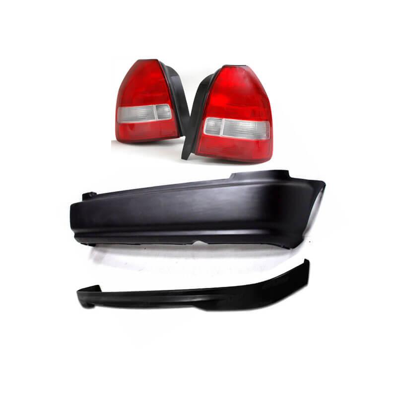 civic 99 00 facelift rear bumper spoiler lip taillights jdm ek4 ek9