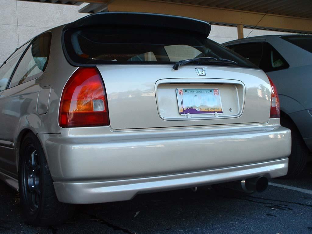 Typer style lip spoiler front+rear Honda Civic EG/EK - JDMaster