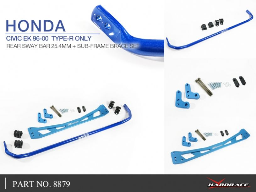 Hardrace Rear Sway Bar + Sub-Frame Brace Set Honda Civic EK